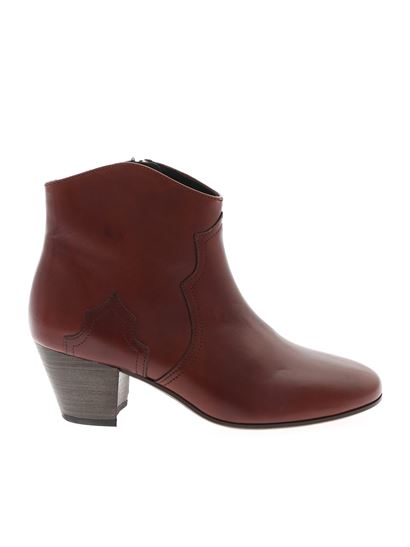 Isabel Marant - Dicker ankle boots in brick color