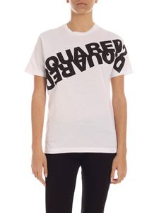 Dsquared2 - Mirror effect logo print T-shirt in white