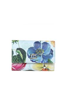 Dolce & Gabbana - Floral wallet in light blue