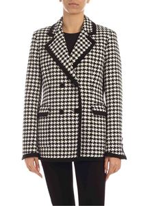 MSGM - Houndstooth jacket in white and black