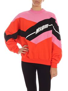 MSGM - Logo sweatshirt color block