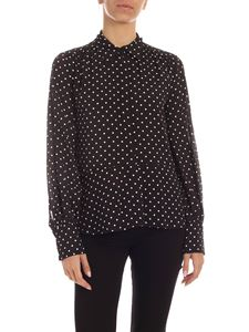 MSGM - Hidden buttons polka dot shirt in black and white