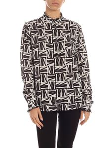 MSGM - M print shirt in black and white