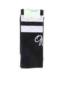 Off-White - Long College socks in black