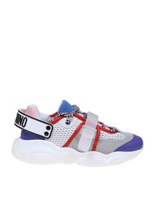 Moschino - Teddy Run sneakers in white and purple