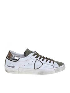 Philippe Model - Prsx sneakers in white and green