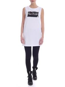 Gaelle Paris - Sequin logo dress in white