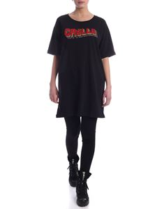 Gaelle Paris - Rainbow logo crewneck dress in black