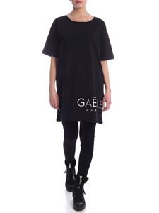 Gaelle Paris - Iridescent logo dress in black