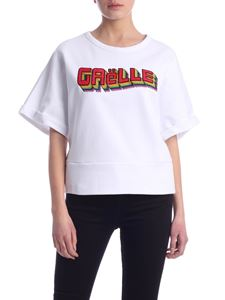 Gaelle Paris - Gaelle logo crop sweatshirt in white