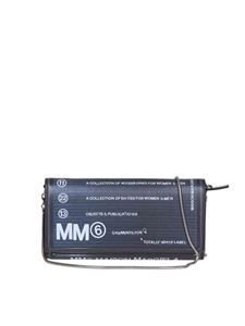 MM6 by Maison Martin Margiela - Rubberized leather wallet in black