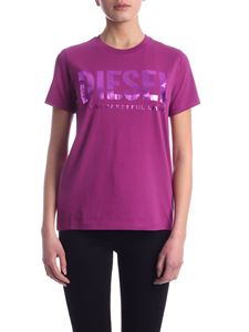 Diesel - Sily-WX t-shirt in purple