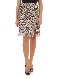 Blumarine - Animal print bouclé skirt