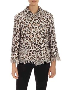 Blumarine - Animal print bouclé jacket