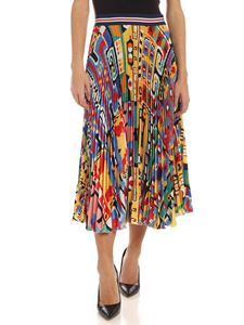 Stella Jean - Multicolor Maya pleated skirt