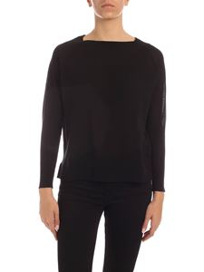 Aspesi - Sweater with vents in black