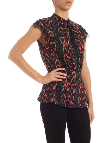 Calvin Klein - Reptile print top in red green and black