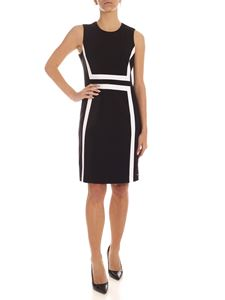 Calvin Klein - White details pencil dress in black