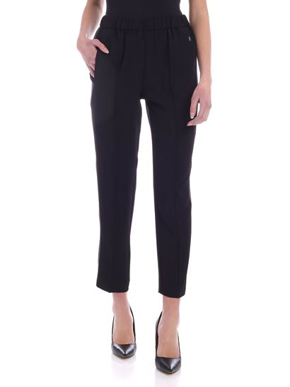 Calvin Klein - Black trousers with white details
