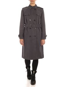 Calvin Klein - lyocell trench coat in grey