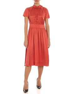 Calvin Klein - Silk dress in coral color