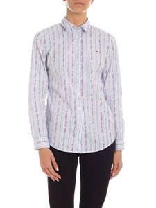 Tommy Hilfiger - Flavia stripes shirt in white and light blue