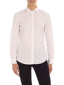 Tommy Hilfiger - Logo embroidery shirt in white
