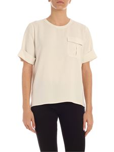 Tommy Hilfiger - Blusa Fifi in crepe color avorio