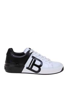 Balmain - B-Court bicolor sneakers with printed logo