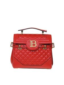 Balmain - B Buzz 23 quilted bag in red