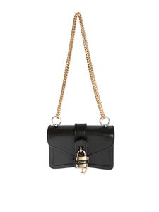Chloé - Mini shoulder bag in black with Aby chain