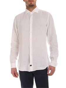 Fay - French collar shirt in white