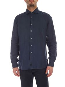 Fay - French collar shirt in blue