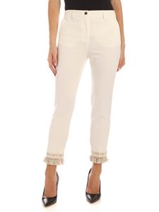 Blumarine - Trimmings pants in ivory color