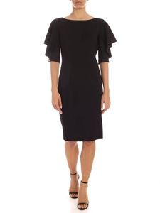 Blumarine - Button on the cuffs pencil dress in black