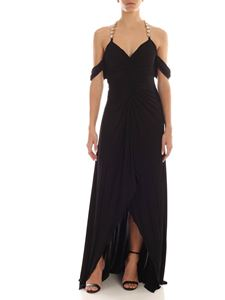 Blumarine - Jewel shoulder straps dress in black