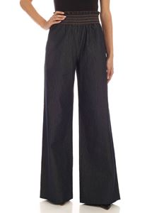 Blumarine - Wide leg pants in denim blue