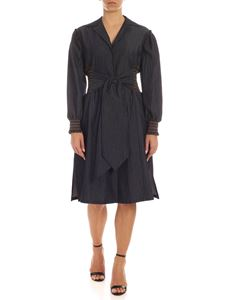 Blumarine - Shirt dress in blue denim
