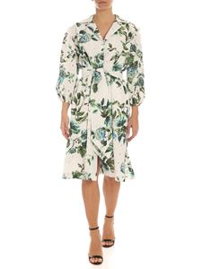 Blumarine - Floral print sangallo dress in white