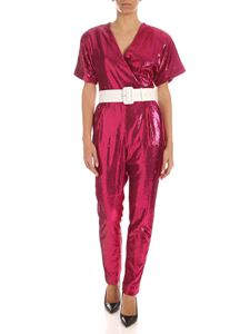 Parosh - Sequins jumpsuit in fuchsia