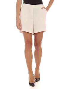 Parosh - Slash side pockets shorts in ivory color