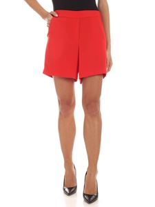 Parosh - Slash side pockets shorts in red
