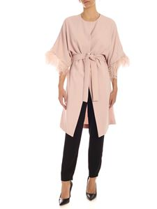 Parosh - Ostrich feathers overcoat in pink