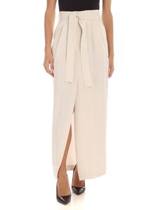 Parosh - Pleated skirt in ivory color
