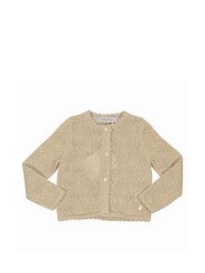 Baby Dior - Cotton blend cardigan in gold color