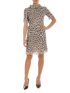 Blumarine - Animal print bouclé pencil dress