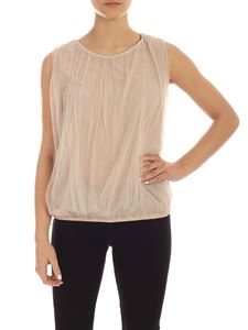 Fabiana Filippi - Top color tortora con tulle