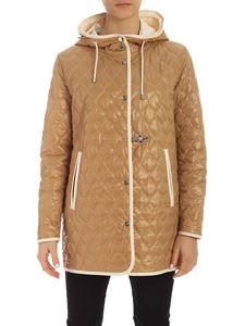 Fay - Beige and white padded parka with hood
