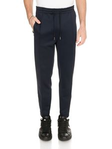 Moncler - Drawstring pants in dark blue