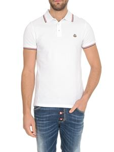 Moncler - Logo patch polo shirt in white
